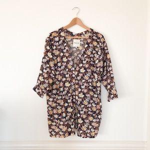Madewell // Floral Robe Jacket Duster Kimono